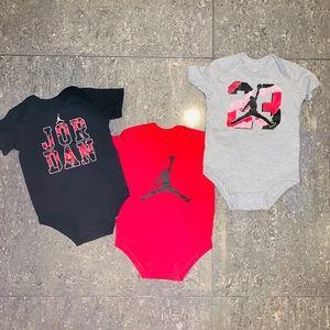 New Baby Jordan 3 pack onesies 3-6 months